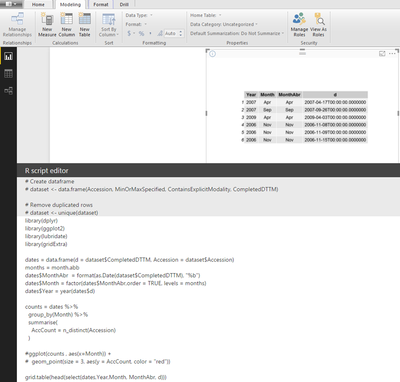 Working with date fields in R and Power BI | Thusitha Mabotuwana's Blog